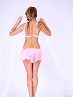 Nude teen in short skirt