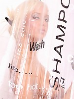 Sex blonde showering