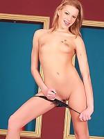 Bernice - Leggy Stroker - Gorgeous teen strips and spreads