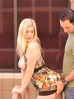 Danielle naked in public