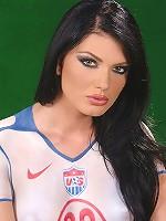 Naked USA fan Roxy Panther