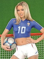 Naked football fan Cherry Jul
