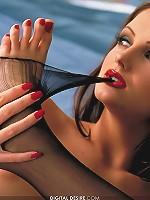 Sandra Shine rockin out in her black lingerie