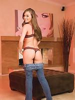 Capri Anderson in jeans