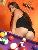 Celeste Star plays pool