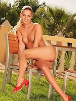 Babelicious.com (Pics) - Neila K - Wild babe Neila shows pussy and masturbates outdoors