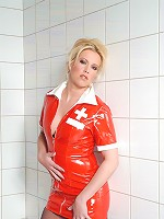 EuroBabez.com (Pics) - Tanja - Wild Blonde Tanja strips her nurse uniform to fuck twat
