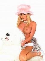 Sexy-Babes.tv (Pics) - Dayton Rains - Busty babe Dayton Rains slides big toy up her pussy