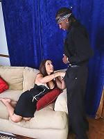 Hot white girl getting some hard black dick