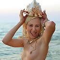 Nude blonde and starfish