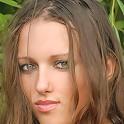 Zemani.com Nadya - Slim young girl poses nude on the sun green beach.